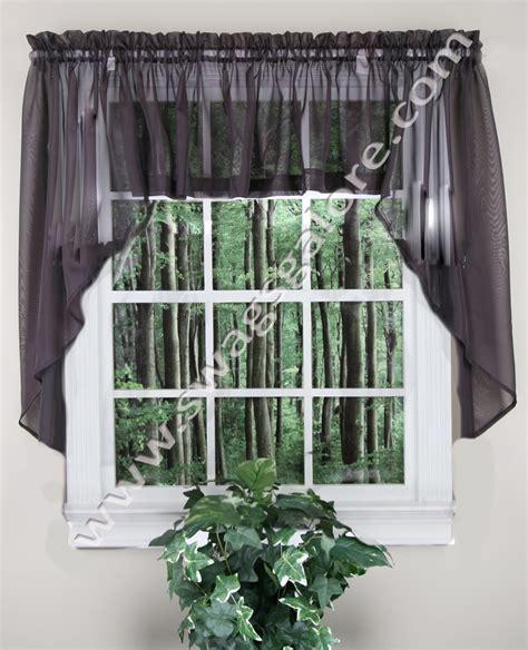 Elegance Sheer Curtains Sage Stylemaster   Jabot & Swag