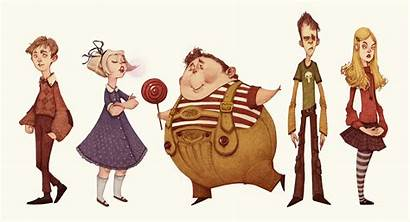 Charlie Factory Chocolate Character Behance Designs Project