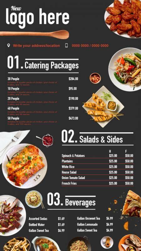 fast food signage menuboard design  dsmenu