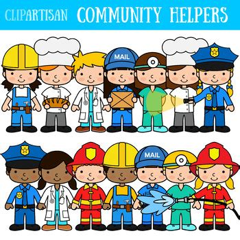 Community Helpers Clipart Community Helpers Clip Occupations By Clipartisan Tpt
