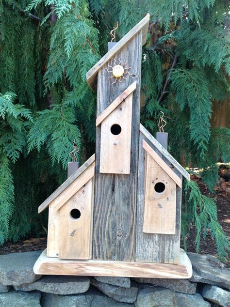 Reclaimed Rustic Birdhouse Functional Wood