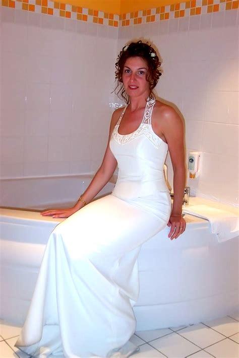 Hot Bride Sylvia In White Stockings 30 Pics