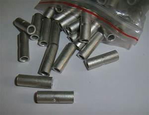 25 Uninsulated Car Amp Wire Butt Connectors 8 Ga Awg Gauge
