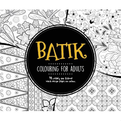 jual buku impor batik colouring  adults book mewarnai