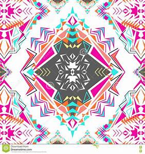 Vector Seamless Texture Ethnic Tribal Geometric Pattern