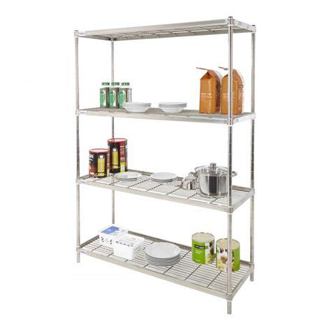 stainless steel kitchen storage racks stainless steel wire kitchen shelving speedy shelving 8282