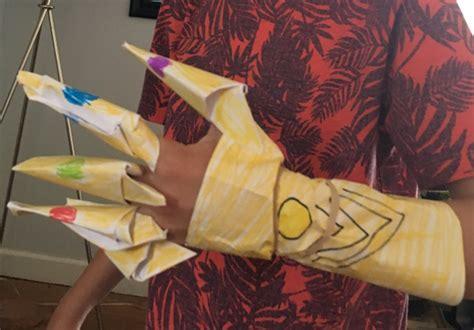 child designed diy infinity gauntlet craft