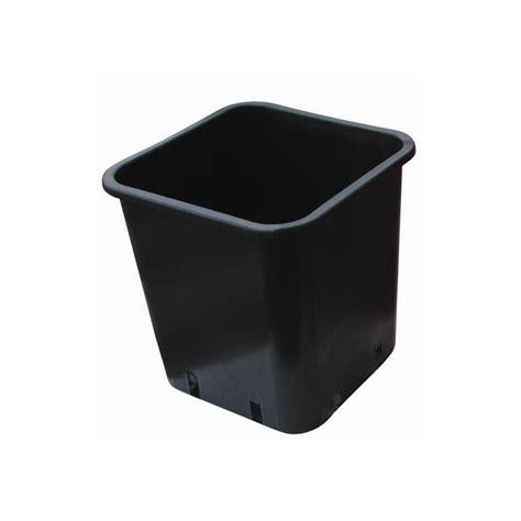 pot plastique carr 233 noir 7x7x8 0 30l x 100pcs bamaplast 12 00 culture indoor