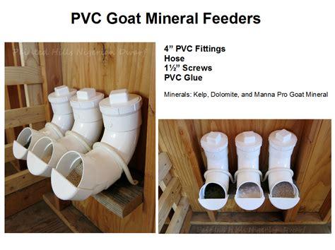 goat mineral feeder pvc goat mineral feeders farm animal stuff