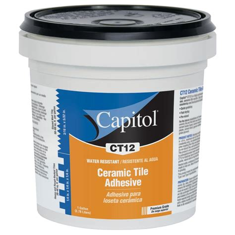 Mastic Tile Adhesive Time by Capitol 1 Gal High Performance Ceramic Tile Adhesive And
