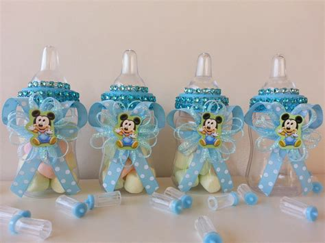 Mickey Mouse Decorations For Baby Shower - 12 baby mickey mouse fillable bottles baby shower favors