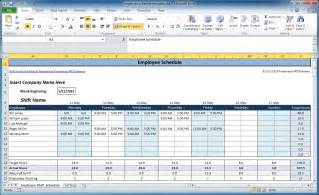 Excel Spreadsheet For Scheduling Employee Shifts by Free Employee And Shift Schedule Templates