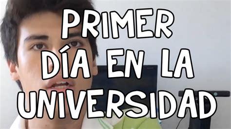Muchos hispanohablantes tienen la mala costumbre de pronunciar las palabras inglesas según la en inglés la u no se suele pronunciar como en español. MI PRIMER DÍA EN LA UNIVERSIDAD - YouTube