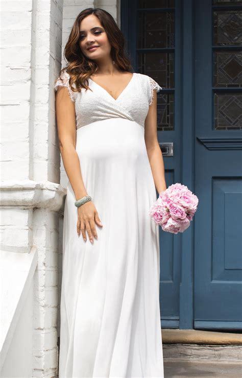 rosa maternity wedding gown long ivory maternity wedding