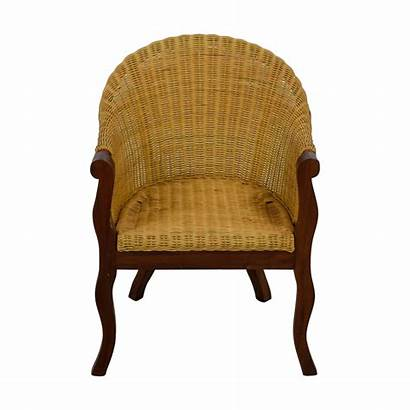 Wicker Chair Accent Wood Chairs Second Hand