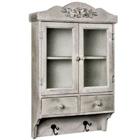 shabby chic wall units glazed shabby chic wall unit with hooks distressed effect wall unit