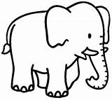 Elephant sketch template