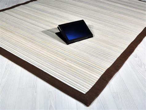 tappeti bambu bambu bianco outlet tappeti