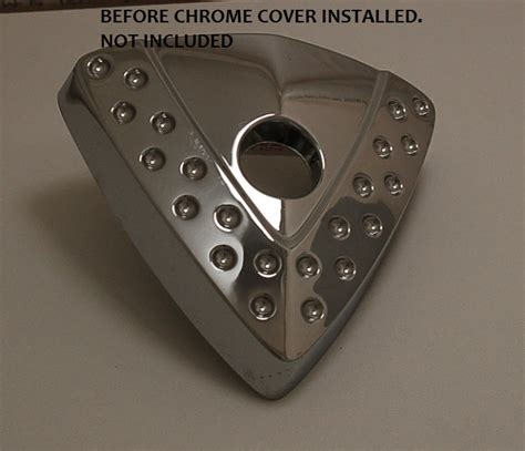 victory motorcycle smooth  cheese wedge cover chrome