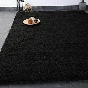 Hochflor Teppich Schwarz : hochflor shaggy teppich modern wohnzimmer lounge unifarbe schwarz top preis ebay ~ Indierocktalk.com Haus und Dekorationen
