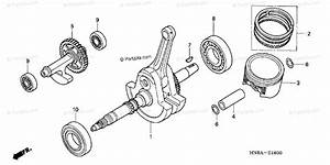 Honda Atv 2006 Oem Parts Diagram For Crankshaft Piston