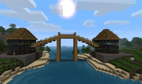 build  wooden bridge  minecraft
