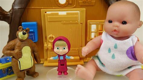 Baby Doll And Marsha And The Bear Tree House Toys Play