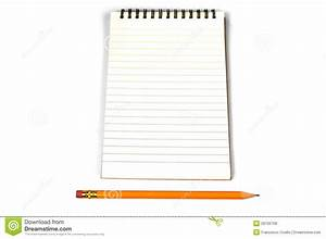 Blank Lined Paper And A Pencil Royalty Free Stock Images ...