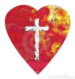 Christian Cross and Heart Valentine Pics