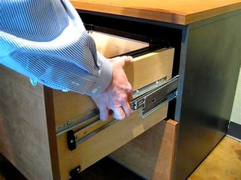 Hon File Cabinet Drawer Removal Video by How To Remove Techline Lateral File Drawers Youtube