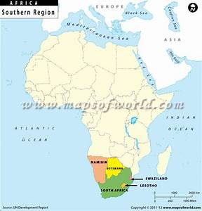 Southern Africa Map, Southern African Countries