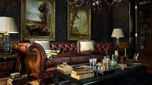 Luxurious leather sofa in the living room a rich ...