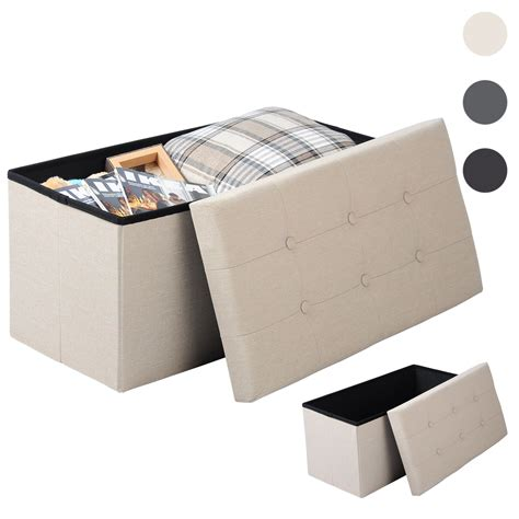 coffre siege rangement tabouret siège pliable pouf cube coffre boîte de rangement
