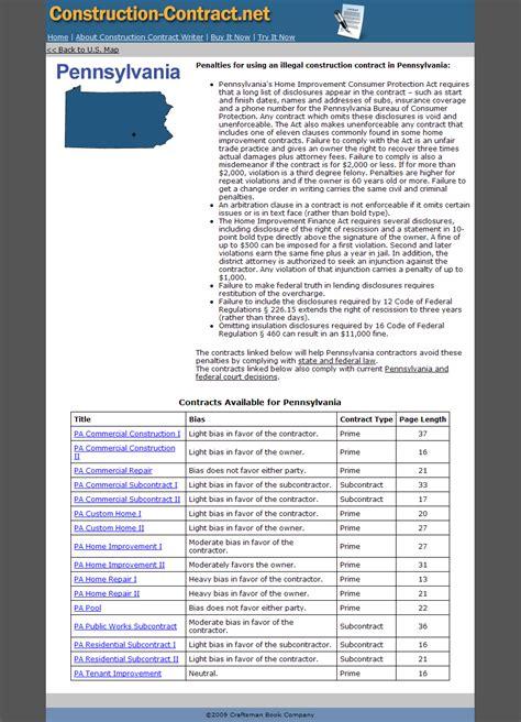 pennsylvanias home improvement consumer protection act