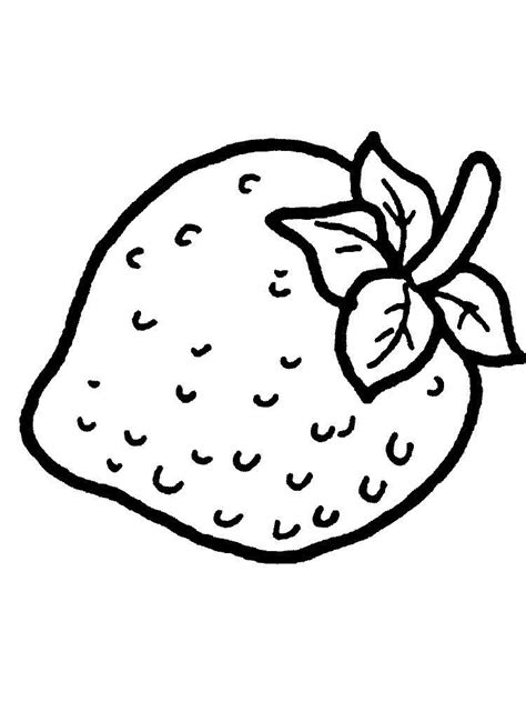 strawberry coloring pages and print strawberry