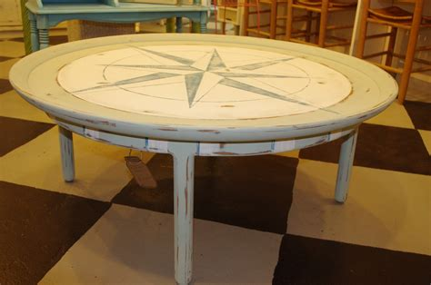 round coastal coffee table coastal chic boutique round nautical coffee table sold