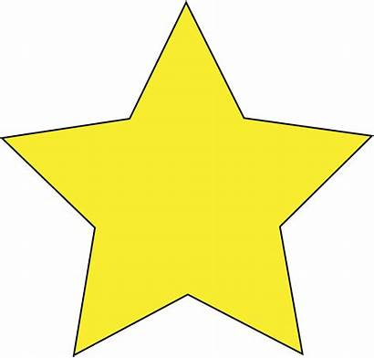 Clipart Star Simple Stars Yellow Cliparts Clip
