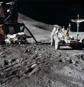 Apollo 15 astronaut James Irwin, and the Lunar Rover on ...