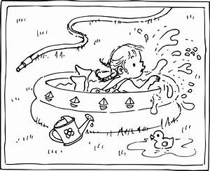 Dessin De Piscine : coloriage petite fille dans une piscine imprimer ~ Melissatoandfro.com Idées de Décoration