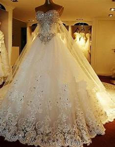 2016 hot sale luxury crystal beaded wedding dress long for Wedding dresses on sale