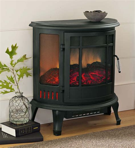 curved panoramic electric fireplace stove electric
