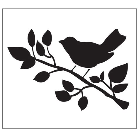 white wood blinds folkart bird painting stencils 30601 the home depot