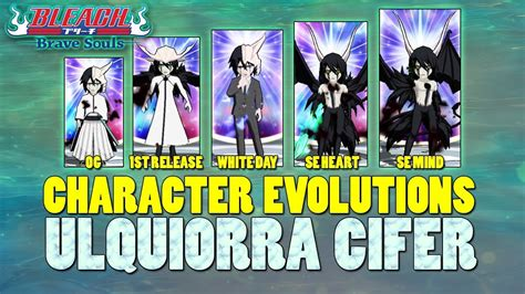 character evolution ulquiorra cifer bleach brave souls