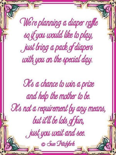 diaper wishing  poem poem diaper raffle baby shower