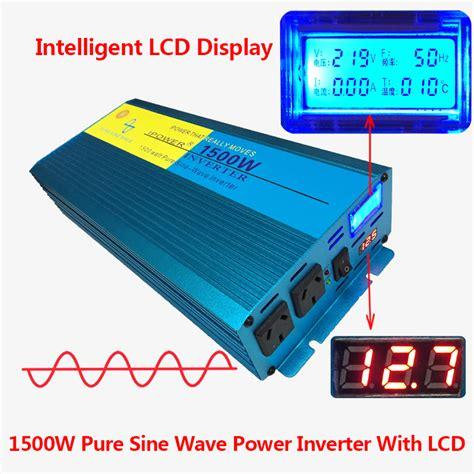 new lcd sine wave inverter 1500w 3000w 12v 240v power boat car caravan ebay
