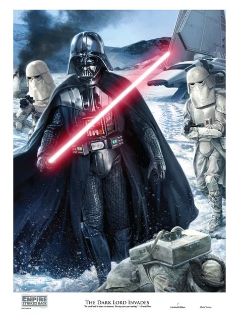 The Dark Lord Invades by Chris Trevas Darth Vader Hoth ...