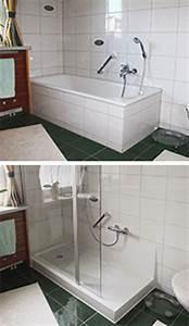 Badewanne Zur Dusche Umbauen : badewannenumbau alte wanne zur neuen dusche nullbarriere ~ Markanthonyermac.com Haus und Dekorationen