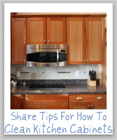 clean kitchen cabinets    tips  hints