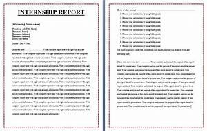 Free Internship Report Format
