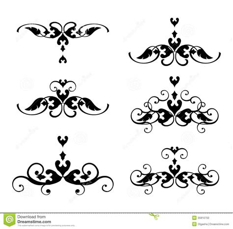 Font Decoration Decorative Graphic Element Stock Vector Image Of Leaf